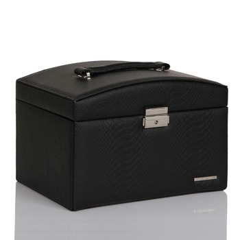 Black Large Jewelry Box Snake Pattern