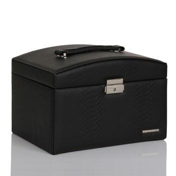 Black Large Jewelry Box Snake Pattern