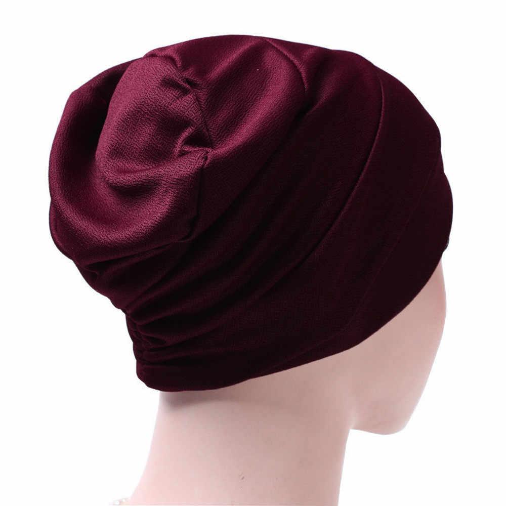 Mujeres India sombrero colmena cáncer quimio caliente Beanie bufanda mujer turbante cabeza abrigo moda musulmán protección a prueba de viento bufanda gorra