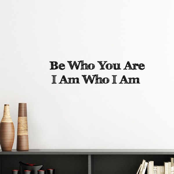 Be yourself inspirational quote silhouette removable wall sticker be yourself inspirational quote silhouette removable wall sticker art decals mural diy wallpaper for room decal solutioingenieria Images