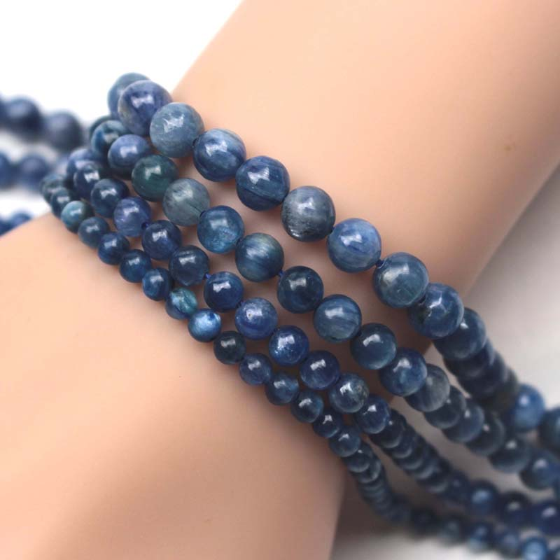 round kyanite stone beads natural GEM stone beads DIY loose beads for jewelry making strand 15