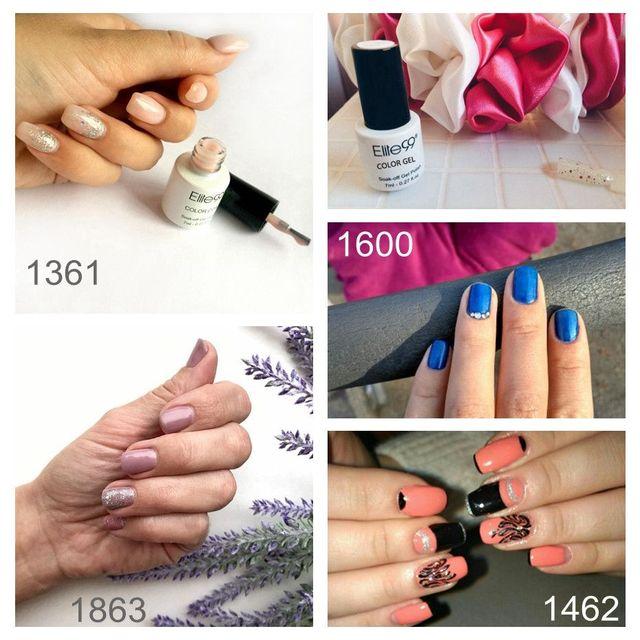 Elite99 7ml Reine Farbe Polnischen Semi Permanent Wunderschöne Nagellack Emaille Soak Off UV LED Lampe Heilung Lack Basis top Nail art