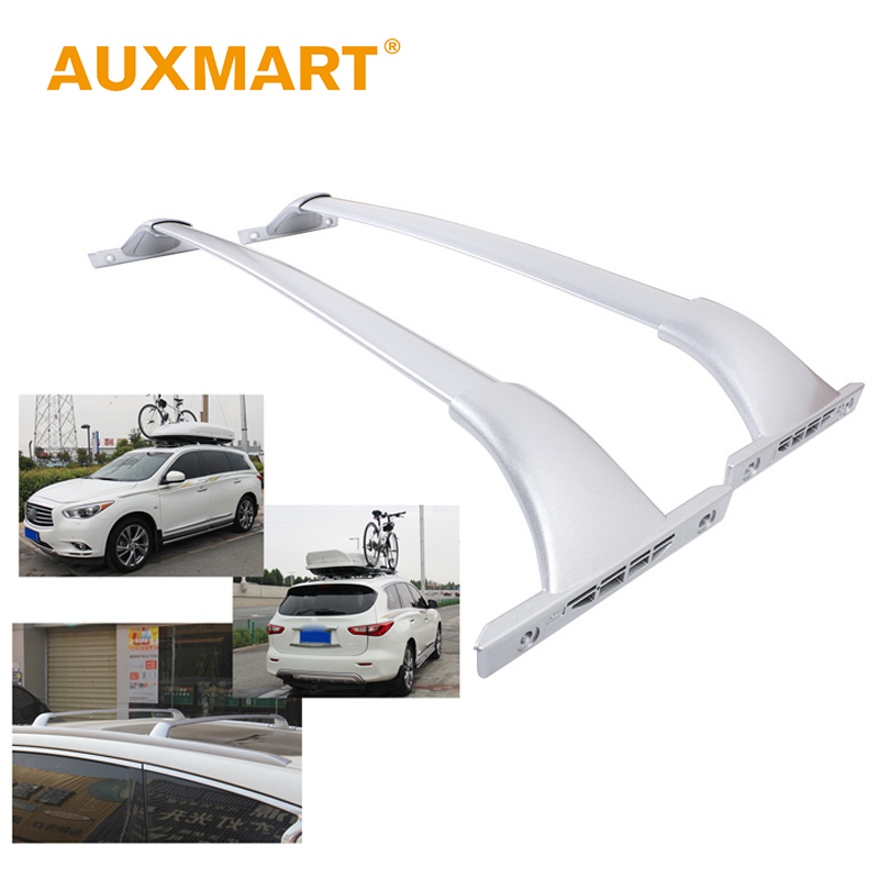 Auxmart Roof Rack Cross Bar for Nissan Rogue 2014~2016 <font><b>Car</b></font> Rooftop Rails Box Load Cargo Luggage Carrier Bike Racks 68kg/150LBS