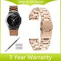 20mm de aço inoxidável watch band para samsung gear s2 classic r732 & moto 360 2 r735 42mm pulso cinta fivela de cinto de segurança pulseira