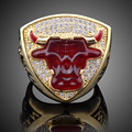 5PCS Championship Rings For Michael Jeffrey Jordan Men Gift 1993 Global Basketball Finals Bull Ring Chicago Sport Replica Ring