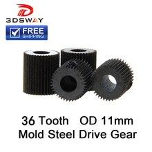 Высокое качество 3d принтеры интимные аксессуары прессовать колеса 36 зубная литейная форма сталь линейный экструдер нити приводная Шестерня для 1 шт