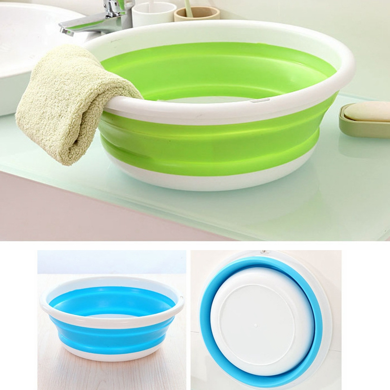 Portable Baby Folding Washbasin S M L Newborn Infant Face Foot Butt Wash Basin Foldable  ...