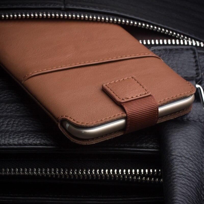 imágenes para Qialino 2016 cubierta caso para iphone 7 moda hecho a mano puro para iphone 7 plus bolsa de ranura de la tarjeta de cuero genuino ultra delgado 4.7/5.5