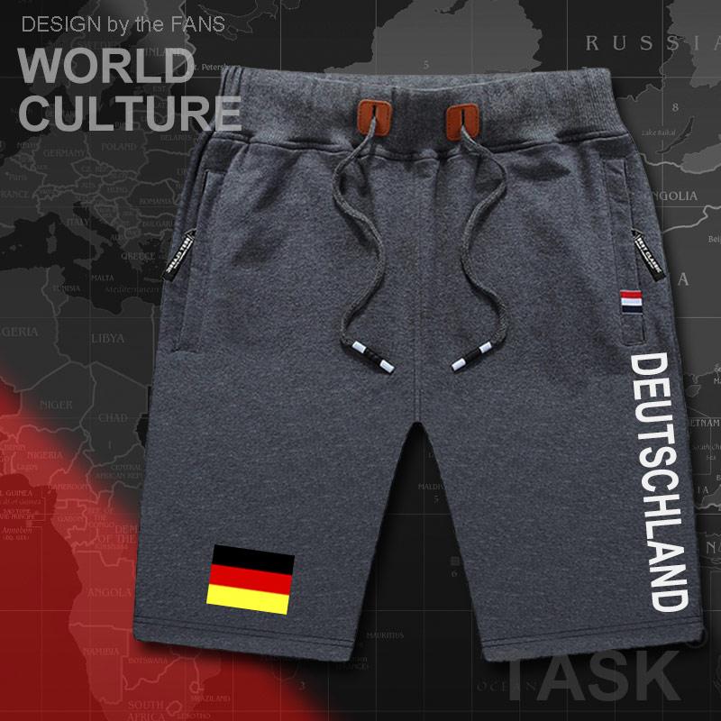 Germany Deutschland Mens Shorts Beach New Men's Board Shorts Flag Workout Zipper Pocket Sweat Bodybuilding 2017 Cotton German DE