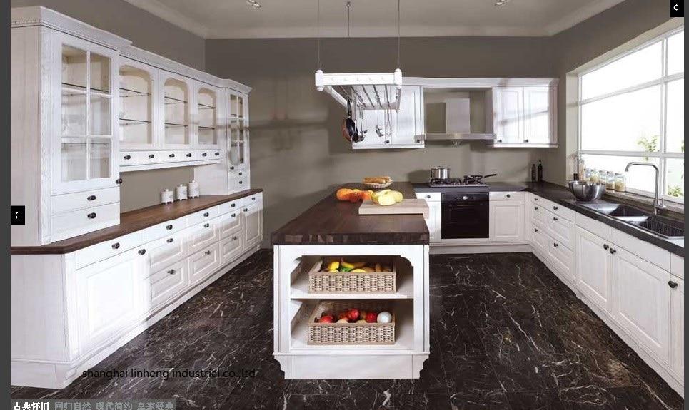 PVC/vinyl Kitchen Cabinet(LH-PV016)