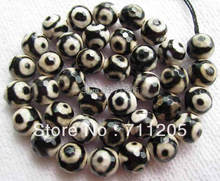 wholesale 39pcs Faceted 10mm chequered with black and white Fire agates Round loose beads Min Order