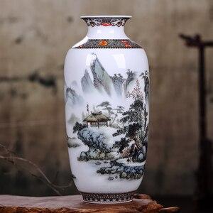 Image 5 - Jingdeedt vaso de cerâmica estilo chinês, artigos para decoração de casa, vaso fino de superfície suave