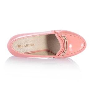 Image 3 - ريزابينا شحن مجاني حذاء نسائي ذو كعب عالٍ نساء موضة منصة مضخات فستان مكتب سيدة مثير الأحذية P11125 حجم 34 43