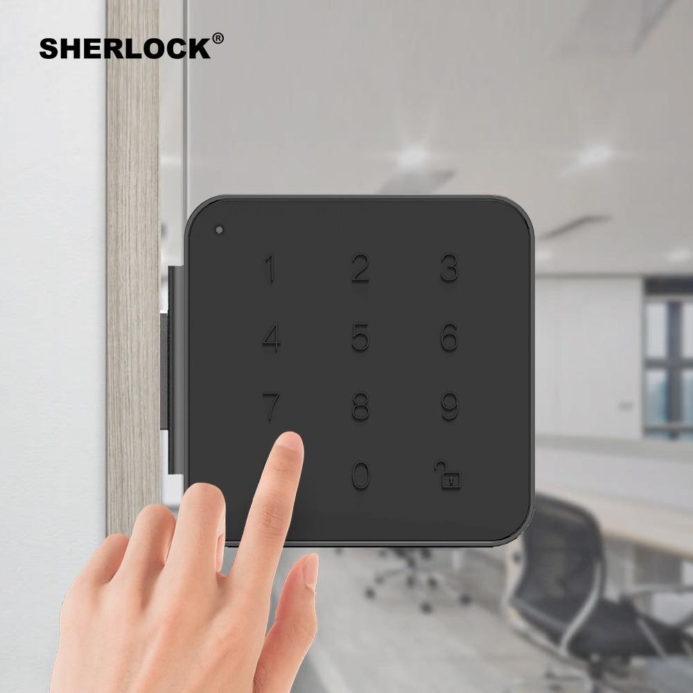 Sherlock G1 Password Smart Door Lock For Office Glass Door Keyless Digital Electric Integrated Lock Bluetooth