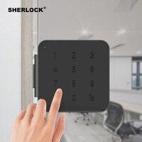 Sherlock отличного качества G1 пароль умный дверной замок для офисные стеклянные двери без ключа цифровой электрический интегрированный замок