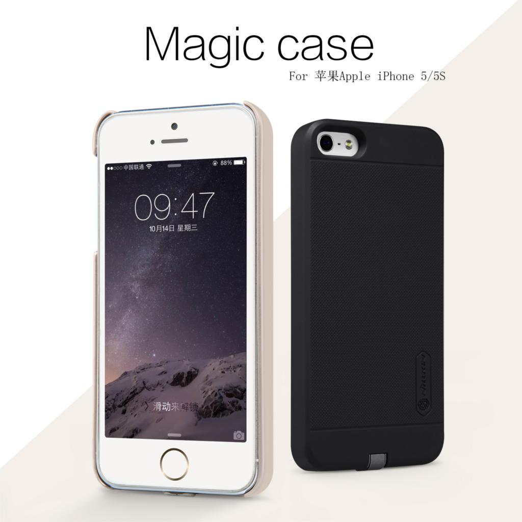Original Nillkin Magic case QI wireless charging receiver back cover for Apple iphone 5s iphone 5