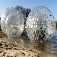 Free Shipping 2.5m Clear Inflatable Body Zorb Ball Inflatable Grass Wave Ball Snowball Water Rolling Ball free a pump