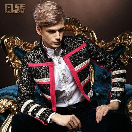 Бесплатная поставка мужская мужчины Новая весна моды личности Случайный пиджак Тонкий зимняя куртка Британский стиль 13082 на заказ