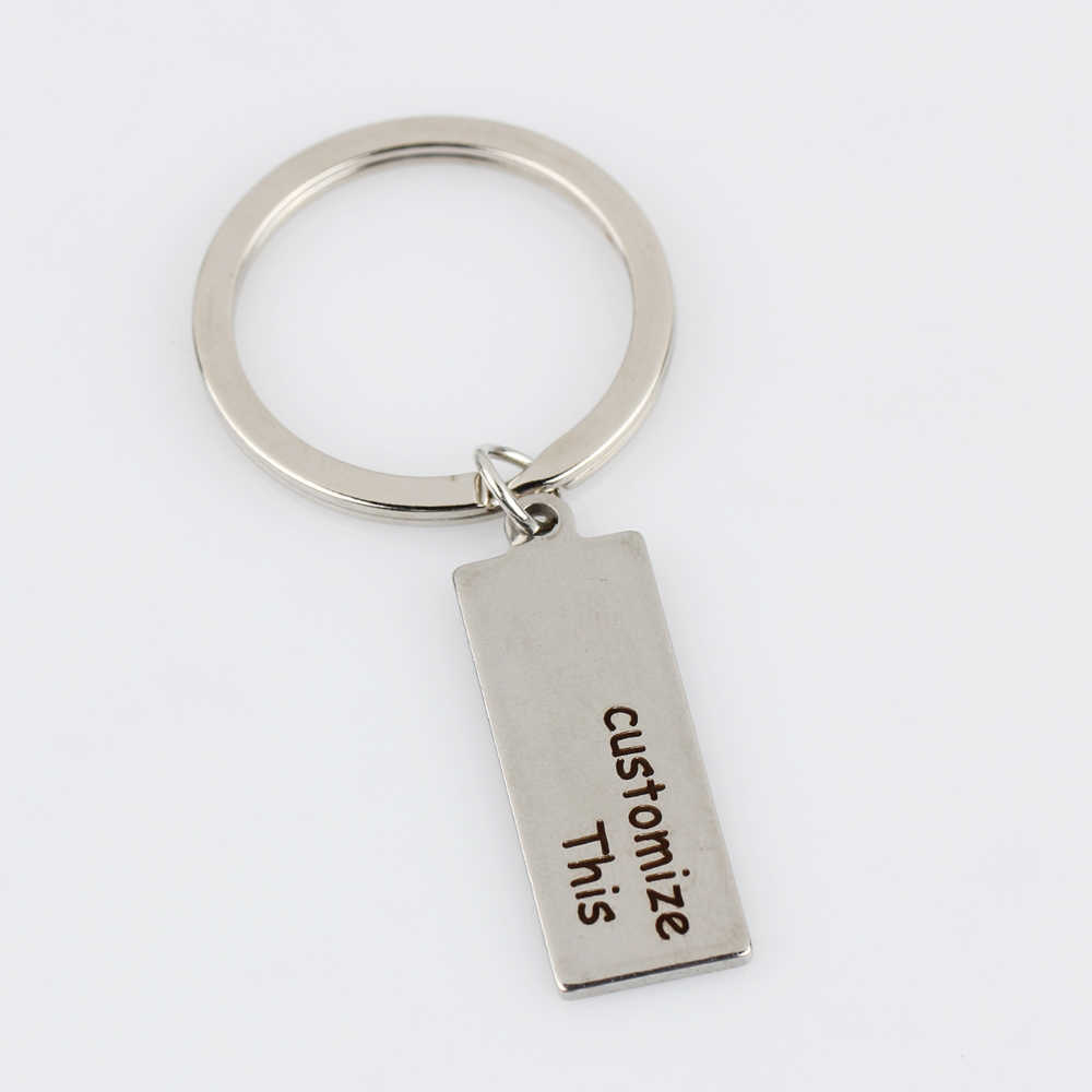 ... Customized Personal 1pcs Engraved Keychain Text Letter Key Chains DIY  Gift for Women Men Family Friends ... 4c272109bd