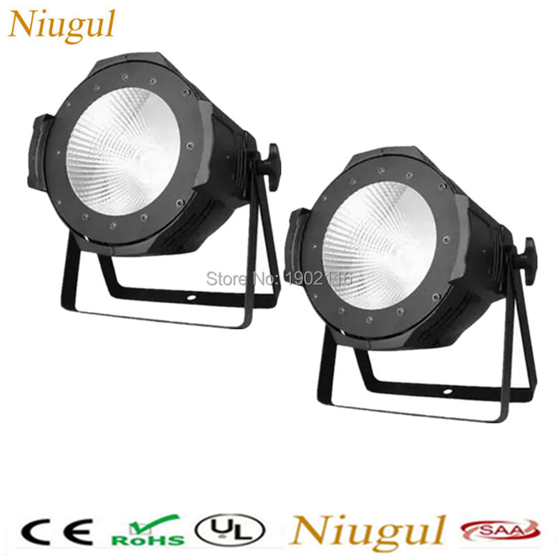 2pcs/lot High Power 100W LED Par Light /COB Aluminium Cool White Warm White DJ DMX512 LED Beam Wash Strobe Effect Stage Lighting led par cob 200w only violet strobe stage light high power dmx512 light aluminium case stage lighting dj equipment