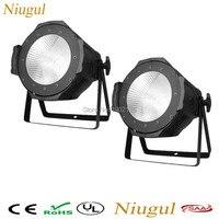 2pcs/lot High Power 100W LED Par Light /COB Aluminium Cool White Warm White DJ DMX512 LED Beam Wash Strobe Effect Stage Lighting