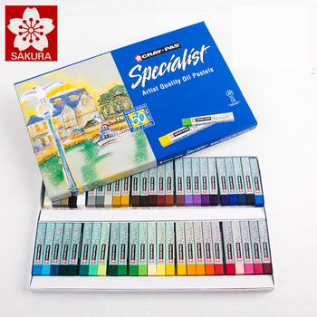 Sakura Oil Pastel ESP 12/25/36/50 Colors Pastel Stick Soft Oil Pastel Oil Crayons Pastels Blue Box Packaging Art Supplies фото