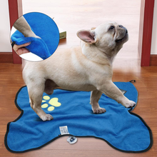 Microfiber Pet Bath Towel Quick Drying Paw Washing Cleaner Cat Puppy Grooming Products For Dogs Cats