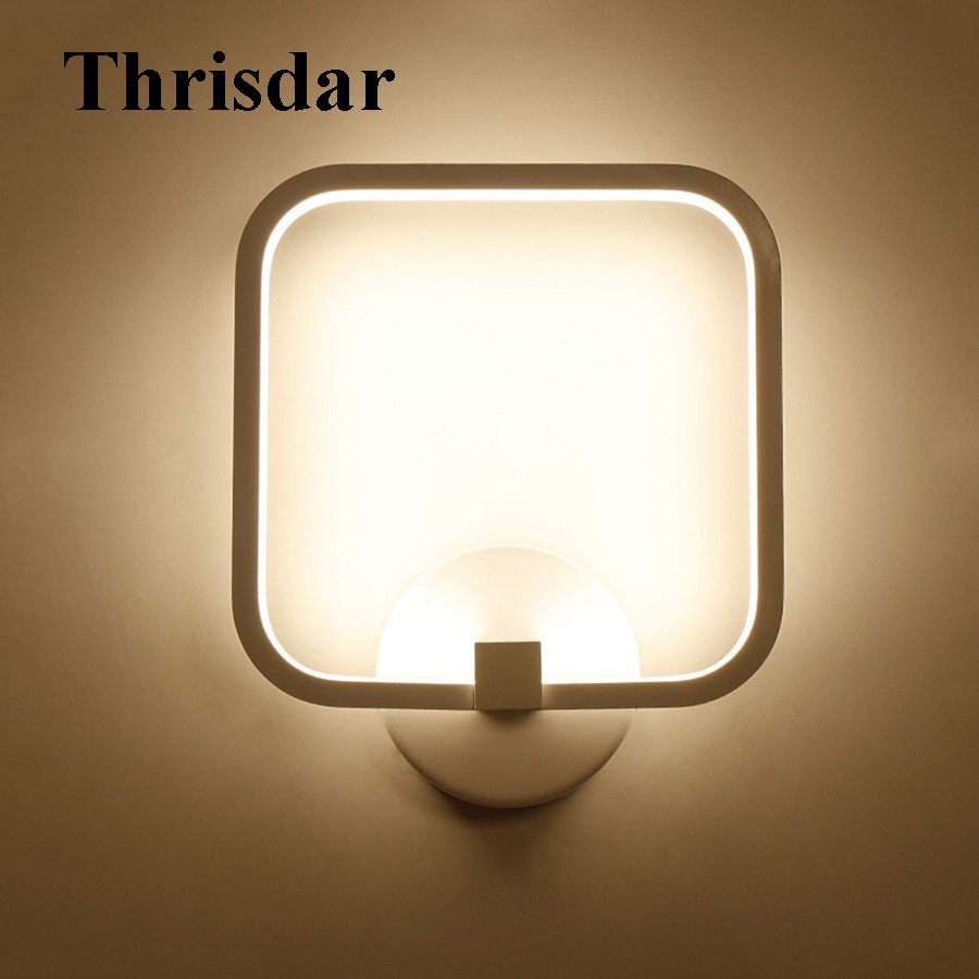 Thrisdar 12W Nordic Simple LED Wall Lamps Bathroom Bedside Wall Sconces Light Home Restaurant Corridor Aisle Porch Wall Light hotel wall light aisle study room mirror light bedroom hotel wall sconces personality restaurant corridor wall lamps bathroom