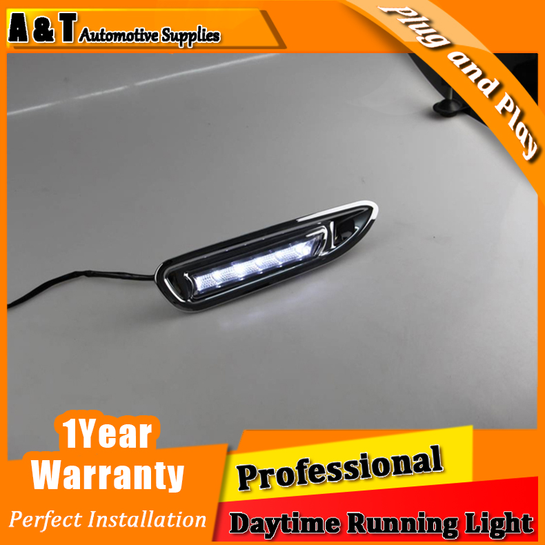 A&T car styling For Mazda 6 LED DRL For Mazda 6 led fog lamps daytime running High brightness guide LED DRL light B style Car Ac for lexus rx gyl1 ggl15 agl10 450h awd 350 awd 2008 2013 car styling led fog lights high brightness fog lamps 1set