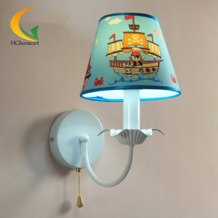 LED kid's room bedroom wall lamp bedside lamp creative pirate warm fixtures modern minimalist cartoon only minimalist modern creative bedside lamp led wall lamp mirror front lamp aisle lighting fixtures wall lights led