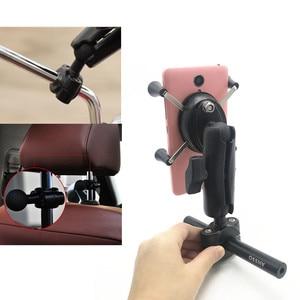 Image 5 - Rail mount 1 นิ้ว headrest รถรถจักรยานยนต์สกูตเตอร์กระจกมองหลัง stem bar mount สำหรับโทรศัพท์มือถือสำหรับ ram mounts