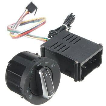 Linterna Auto Sensor + cromo interruptor para VW Lavida Golf Jetta Bora Polo escarabajo Bora de charp Lavida Passat B5