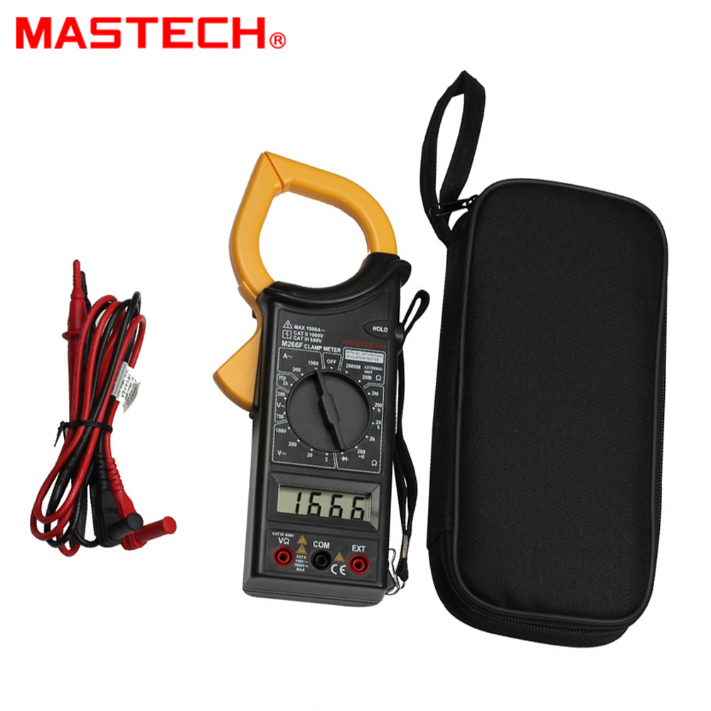 цены MASTECH M266F Digital AC Clamp Meter AC Current 1000A Resistance DC/AC Voltage Tester Detector with Diode