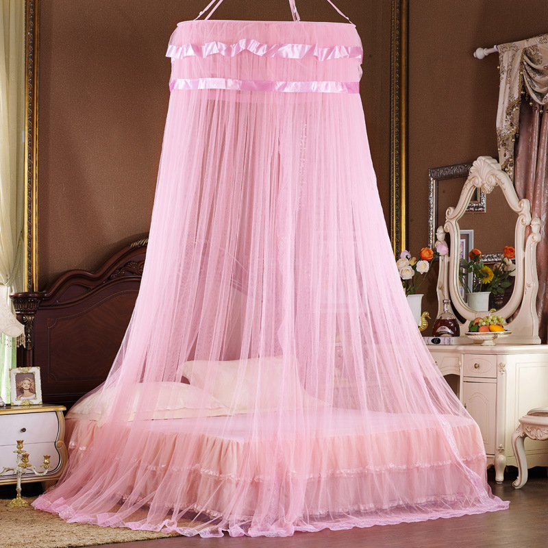 fashion princess bed canopy curtain netting hung dome. Black Bedroom Furniture Sets. Home Design Ideas
