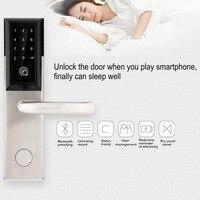 Bluetooth безопасности входной двери замок электронный Комбинации цифровой пароль блокировки двери смарт код шкафчик с карты