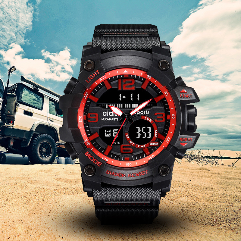 Top Brand Aidis Mens Watch Waterproof Multi-function Sports Military Watches Led Digital Electronic Watch Quartz Watches Clock Refreshing And Enriching The Saliva Watches