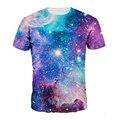 Новый Фирменный Стиль Clothing Синий Galaxy 3D Печать Мужчины Т рубашка Galaxy T-Shirt Мода Футболка Мужчины Повседневная Футболка Homme Camiseta