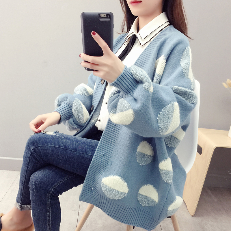 Winter Warm Sweaters and Large Size Cardigan Female Thick Cashmere Cardigan Oversize Knit Jackets Girls Sweaters Coat