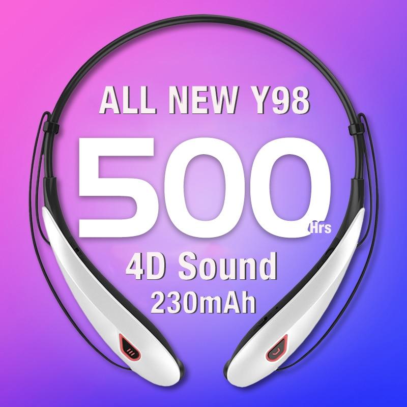 cheapest Lymoc Upgrade Y98 4D Stereo Bluetooth Headset Neckband Wireless Earphones V4 2 Sport Headphone 15Hrs Playtime Handfree HD MIC