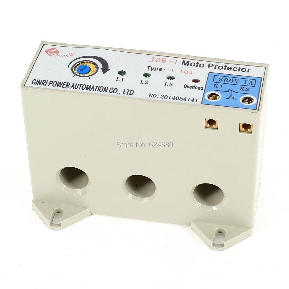 JDB 1 3 Phase 4 10 Ampere Einstellbare Strom Motor Schaltung Schutz ...