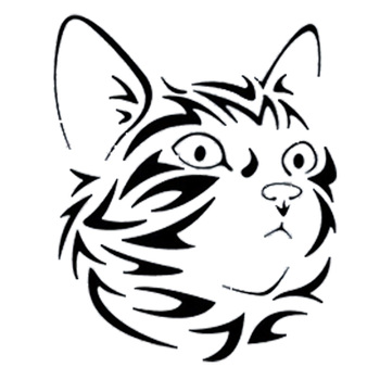 15.6*19.3CM Endearing Pet Cat Vinyl Decal Waterproof Car Stickers Car Styling Bumper Motorcycle Decoration Black/Silver S1-1130 image