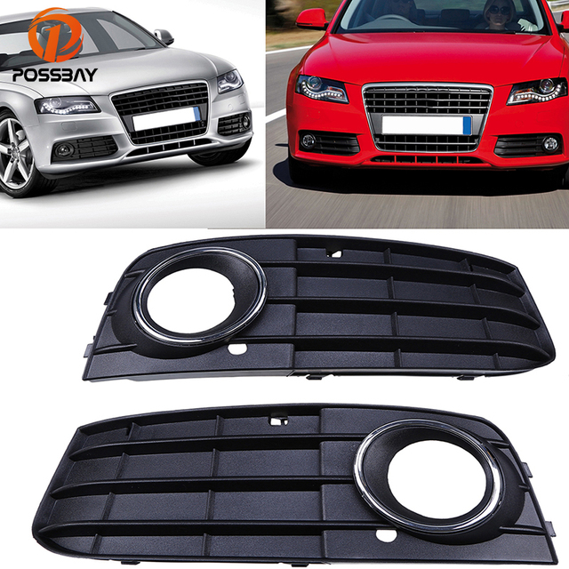 Us 1929 35 Offpossbay Fog Light Cover For Audi A4 B8 2007 2008 2009 2010 2011 Pre Facelift Leftright Side Lower Bumper Grilles Cover Decor In