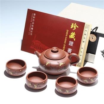 Hot Sale Yixing Zisha teapot sets wholesale 5 pcs sets gifts teapot sets