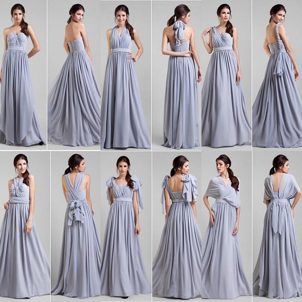 Convertible Long Bridesmaid Dresses