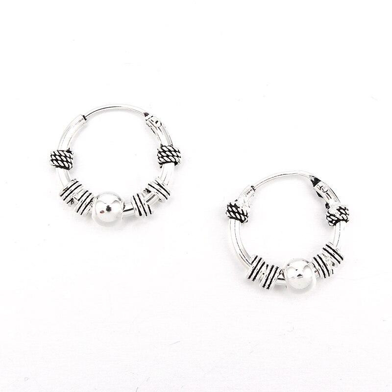 1 par boho cor hoop brinco para as mulheres círculo redondo legal pequenos brincos aretes aretes jóias bijoux e27