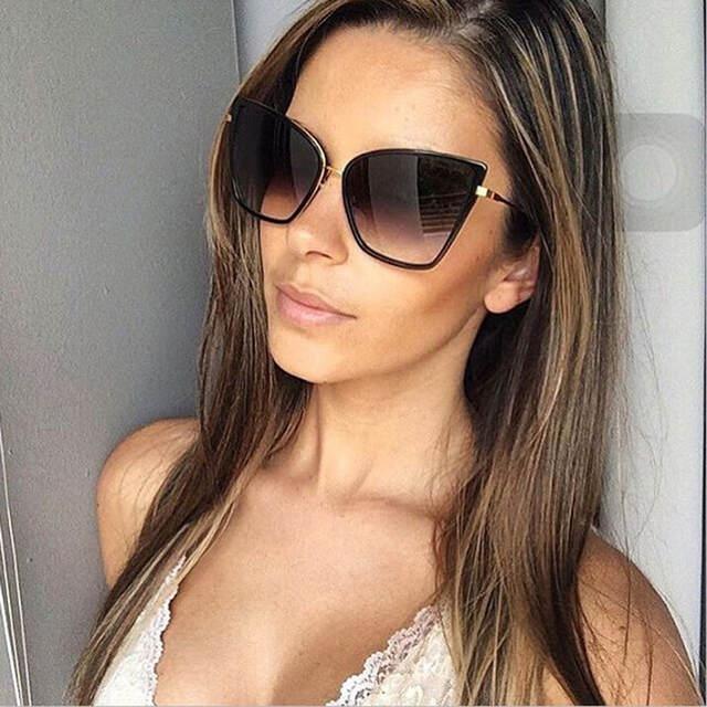 b3262402f20f0 Online Shop Hot Sale Womens Brand Fashion Cat Eye Sunglasses Women Vintage  Glasses for Women or Female Retro Sun Glasses D Eyewear Gafas