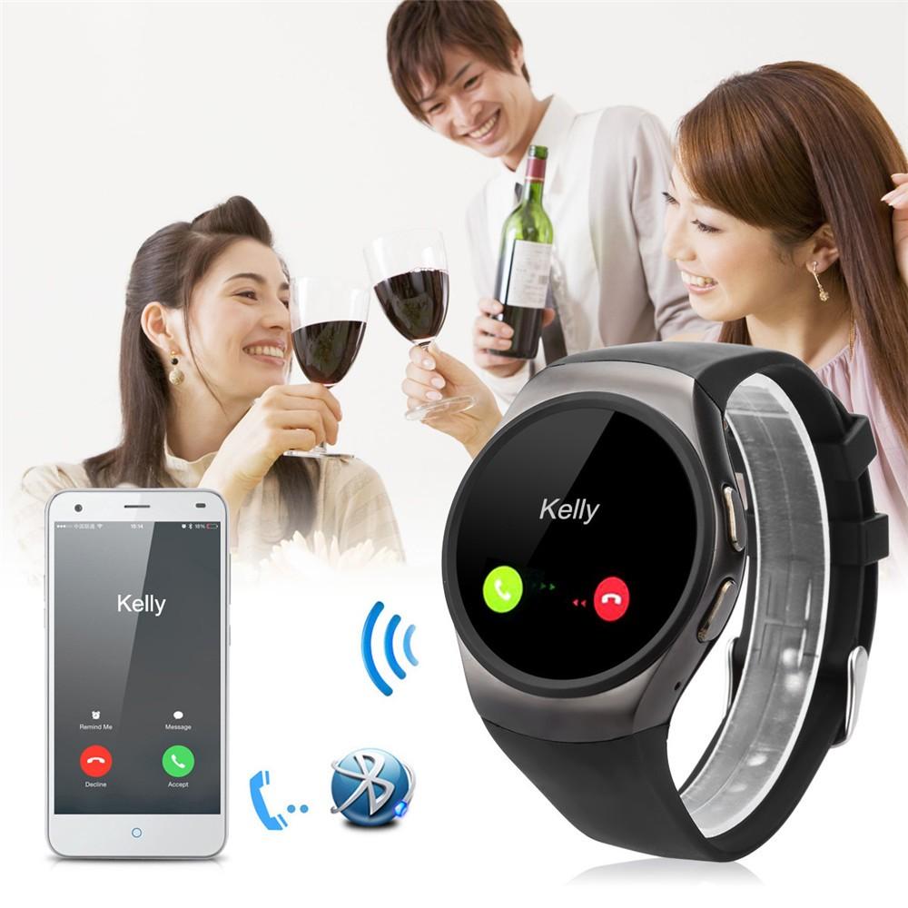 2016 New Product KW18 Smart Watch Android IOS Digital watch Bluetooth Reloj Inteligente SIM Round Heart Rate Monitor Watch Clock14