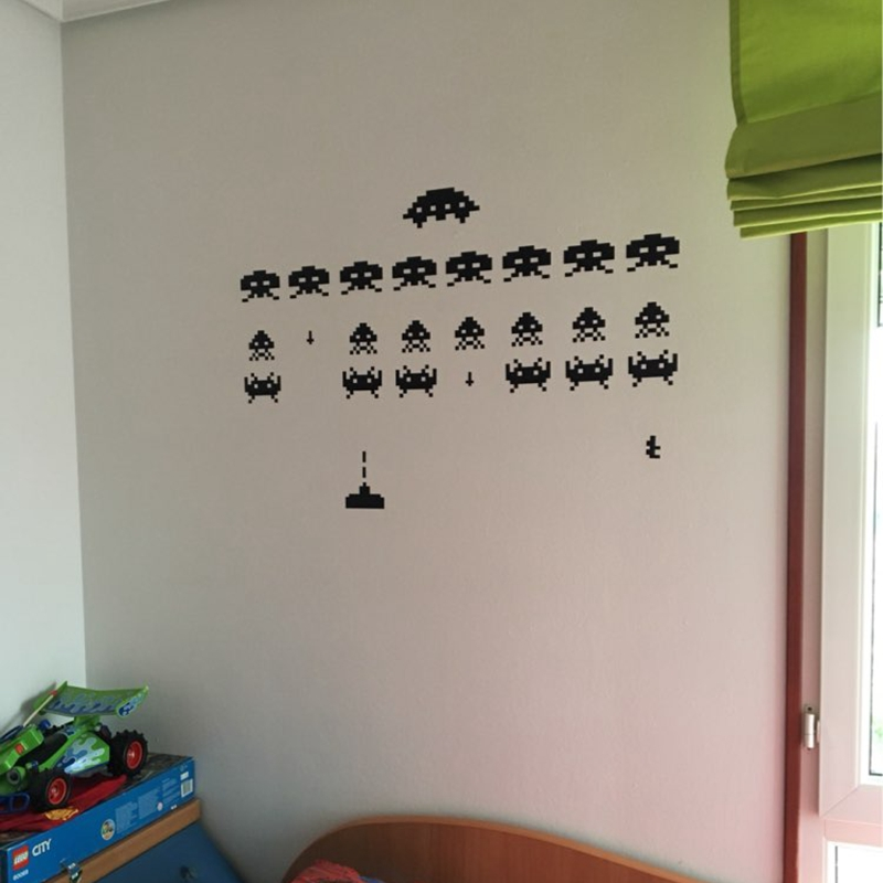 Awesome Gamer Vinyl Stickers SPACE INVADERS Video Game Play Room Wall Decal In Wall  Stickers From Home U0026 Garden On Aliexpress.com | Alibaba Group