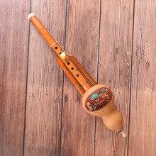 Китайская ручная работа Hulusi коричневая бамбуковая Тыква Cucurbit Flute этнический музыкальный инструмент C Ключ для начинающих музыкальных любит...