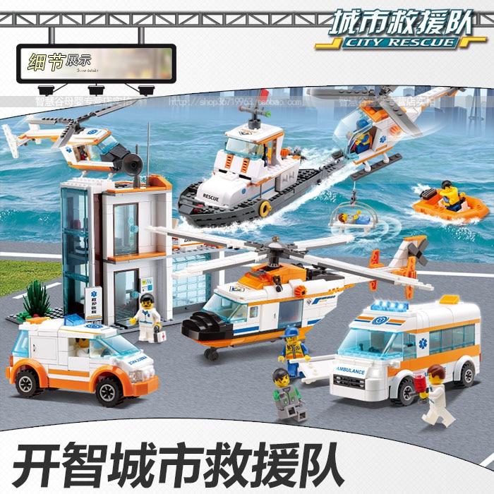 Blocks  assemble toys fire truck ambulance Rescue City models машина fire truck пожарная